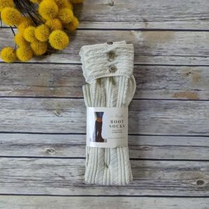 Simply Noelle Tall Length Boot Socks with Buttons
